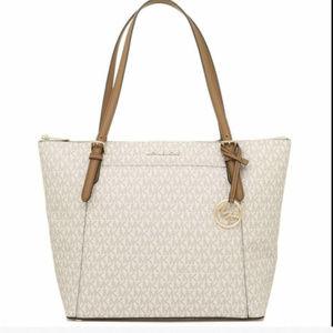 Michael Kors Ciara Vanilla Lg TZ Tote Bag